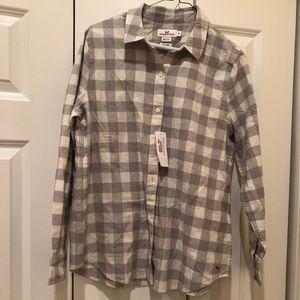 NWT Vineyard Vines Buffalo Check shirt, size 8